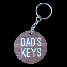 Blackwood Veneer Key Ring - Dad's Keys