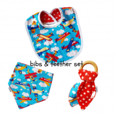 Baby Three Piece Bib Set - Planes