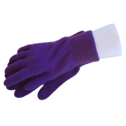 Possum Fur & Merino Wool Gloves - Purple