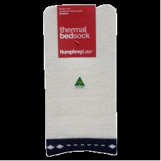 Thermal Bed Socks - Navy Trim, Large