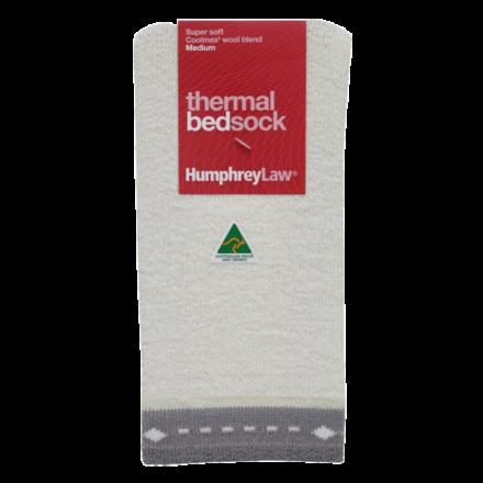 Thermal Bed Socks - Grey Trim, Medium