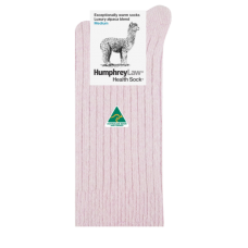 Alpaca Wool Blend Health Socks - Dusky Pink
