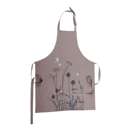 Organic Cotton Apron - Blue Wren Design