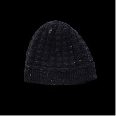 Handknit Beanie - Black Fleck