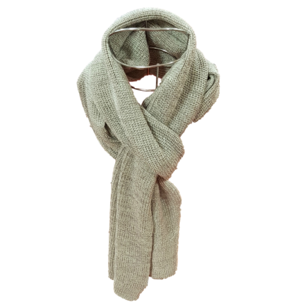 Pure Merino Wool Long Scarf - Oatmeal