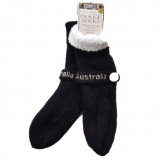 House or Slipper Socks - Black, Australia