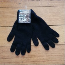 Possum Fur & Merino Wool Gloves - Black