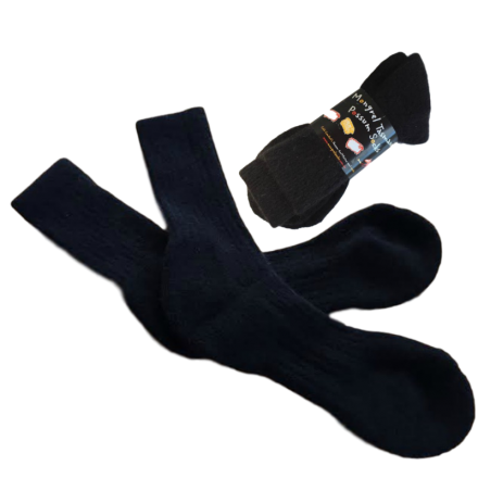 Possum Merino Boot Socks - Black