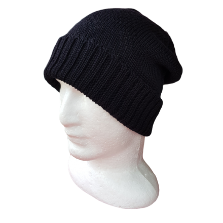 Tasmanian Pure Merino Wool Beanie - Black