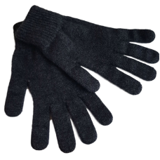 Pure Merino Wool Gloves - Black