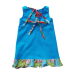 Girls Aqua Pincord Pinafore - Size 4