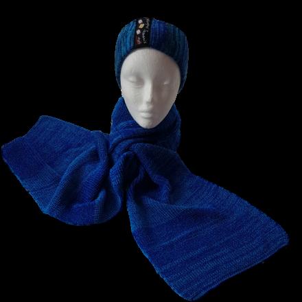 Pure Merino Wool Long Scarf - Blues