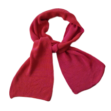 Pure Merino Wool Long Scarf - Coral
