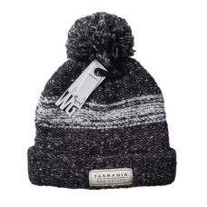 Combination Wool Blend Beanie - Charcoal Grey