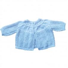 Handknitted Baby Jacket - White