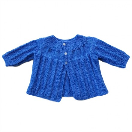 Hand Knitted Baby Jacket - Blue