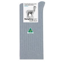 Alpaca Wool Blend Health Socks - Silver Grey