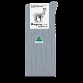 Alpaca Wool Blend Health Socks - Silver Grey
