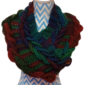 Hand Crochet Multi-Coloured Shrug