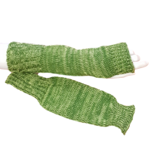 Pure Wool Lime Green Hand Warmers or Fingerless Gloves