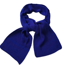 Pure Merino Wool Long Scarf - Cobalt Blue