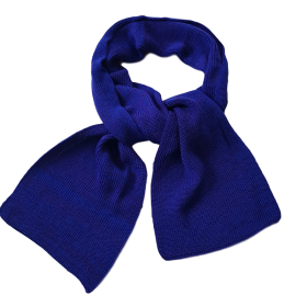 Pure Merino Wool Long Scarf - Cobalt Blue