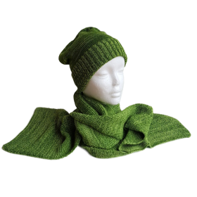 Pure Merino Wool Long Lime Green Scarf