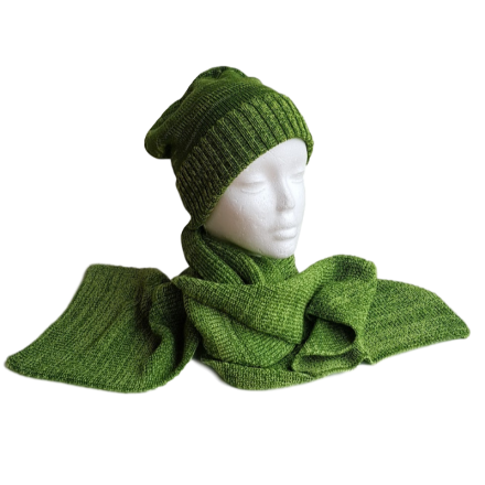 Pure Merino Wool Long Lime Green Scarf