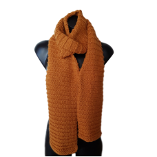 Pure Wool Handknitted Scarf - Mustard
