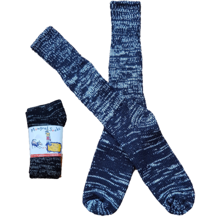 Pure Wool Socks - Black & White