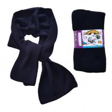 Pure Merino Wool Long Scarf - Dark Navy Blue