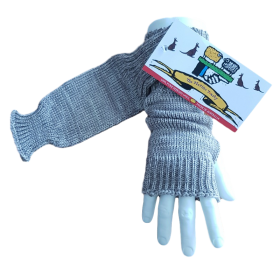 Pure Wool Fingerless Gloves - Oatmeal