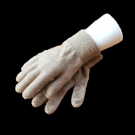 Possum Fur & Merino Wool Gloves - Oatmeal