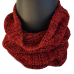 Pure Wool Neck Warmer - Burnt Orange & Black Fleck