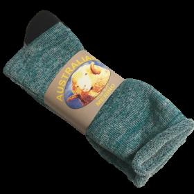 Aqua Fleck Merino Wool & Cotton Socks - 3 Pack Size 6-11