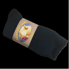 Navy Fleck Merino Wool & Cotton Socks - 3 Pack Size 6-11