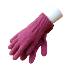 Possum Fur & Merino Wool Gloves - Pink