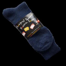 Navy Possum & Merino Wool Dress Socks