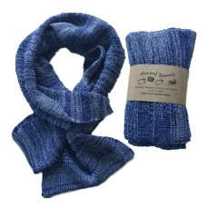 Pure Merino Wool Long Blue Scarf