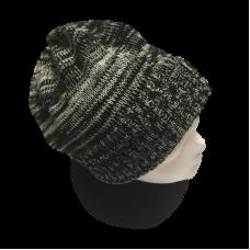 Tasmanian Pure Merino Wool Beanie - Black & Oatmeal