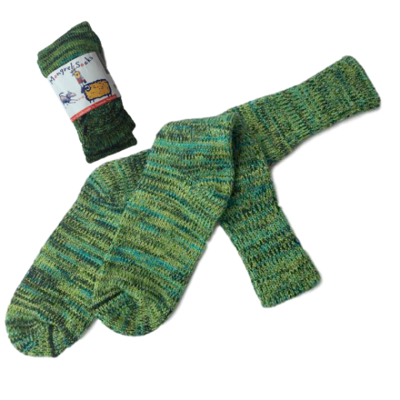 Pure Wool Socks - Greens