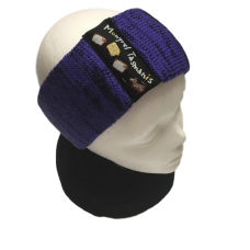 Pure Wool Head Warmer - Purple & Black