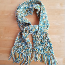 Handknitted Scarf with Fringe