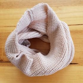 Pure Merino Wool Latte Loop Scarf