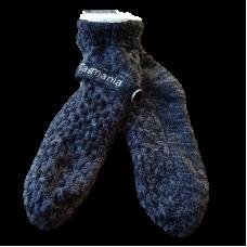 House or Slipper Socks - Black & Grey Fleck, Tasmania