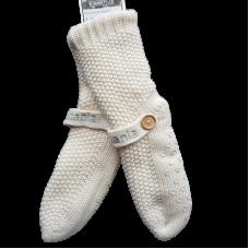 House Socks Fleecy Lined - Cream,Tasmania