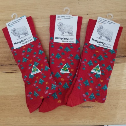 Health Wool Blend Christmas Socks