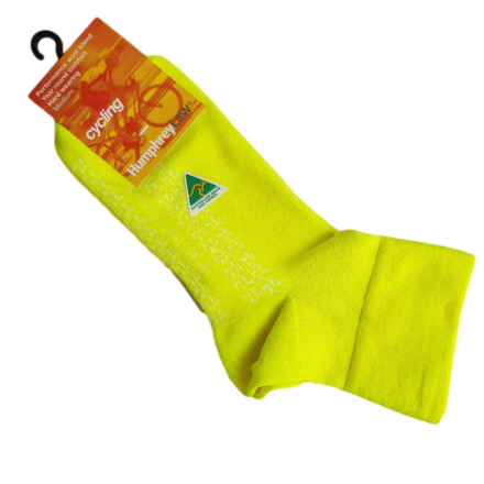Australian Made Cycling Socks - Fluro Yellow