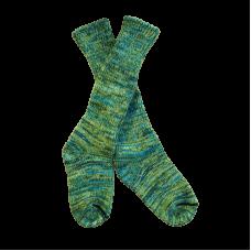 Pure Wool Green Fleck Socks