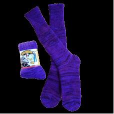 Pure Wool Purple & Black Socks